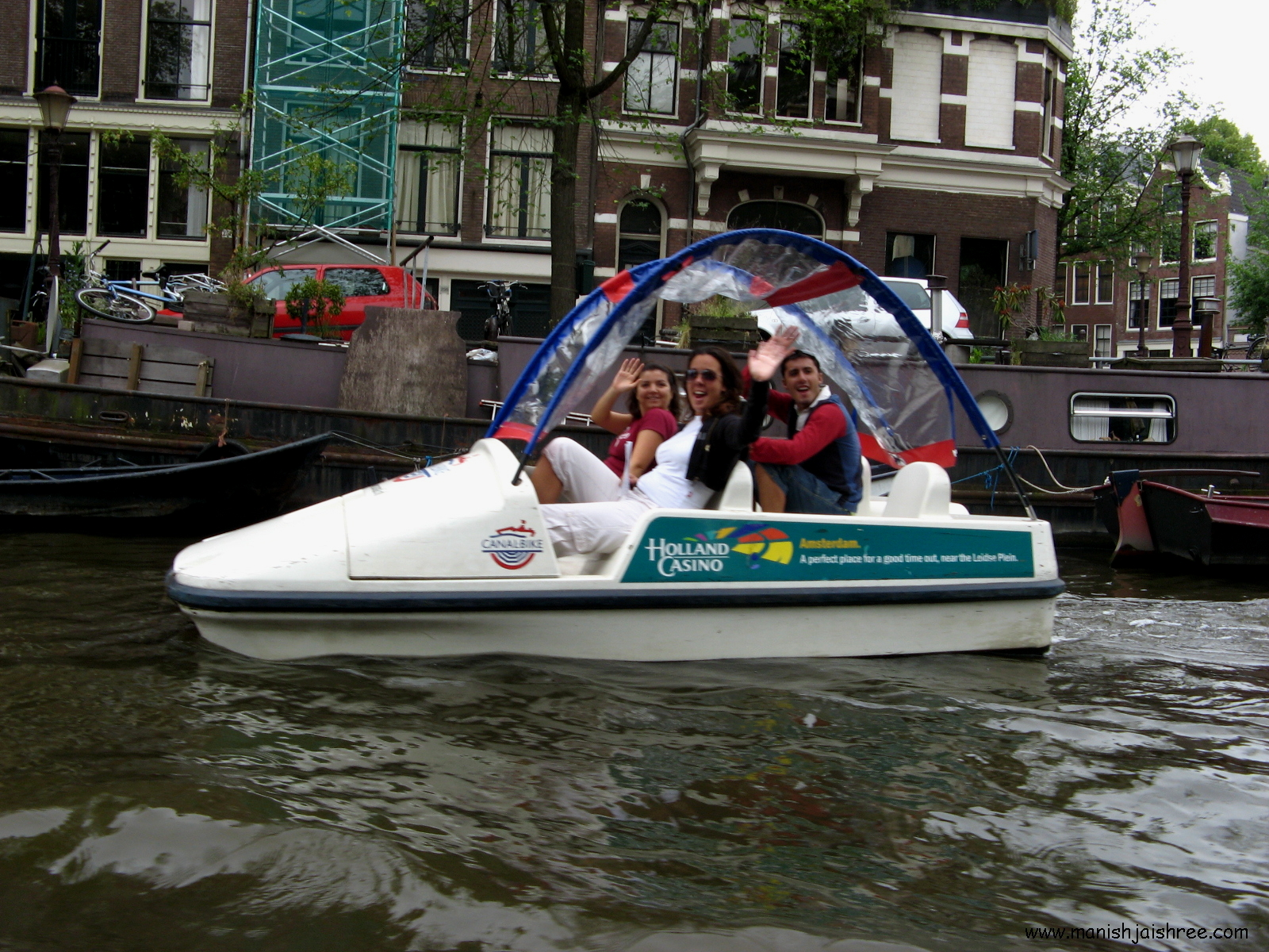Boating in the Amstel River