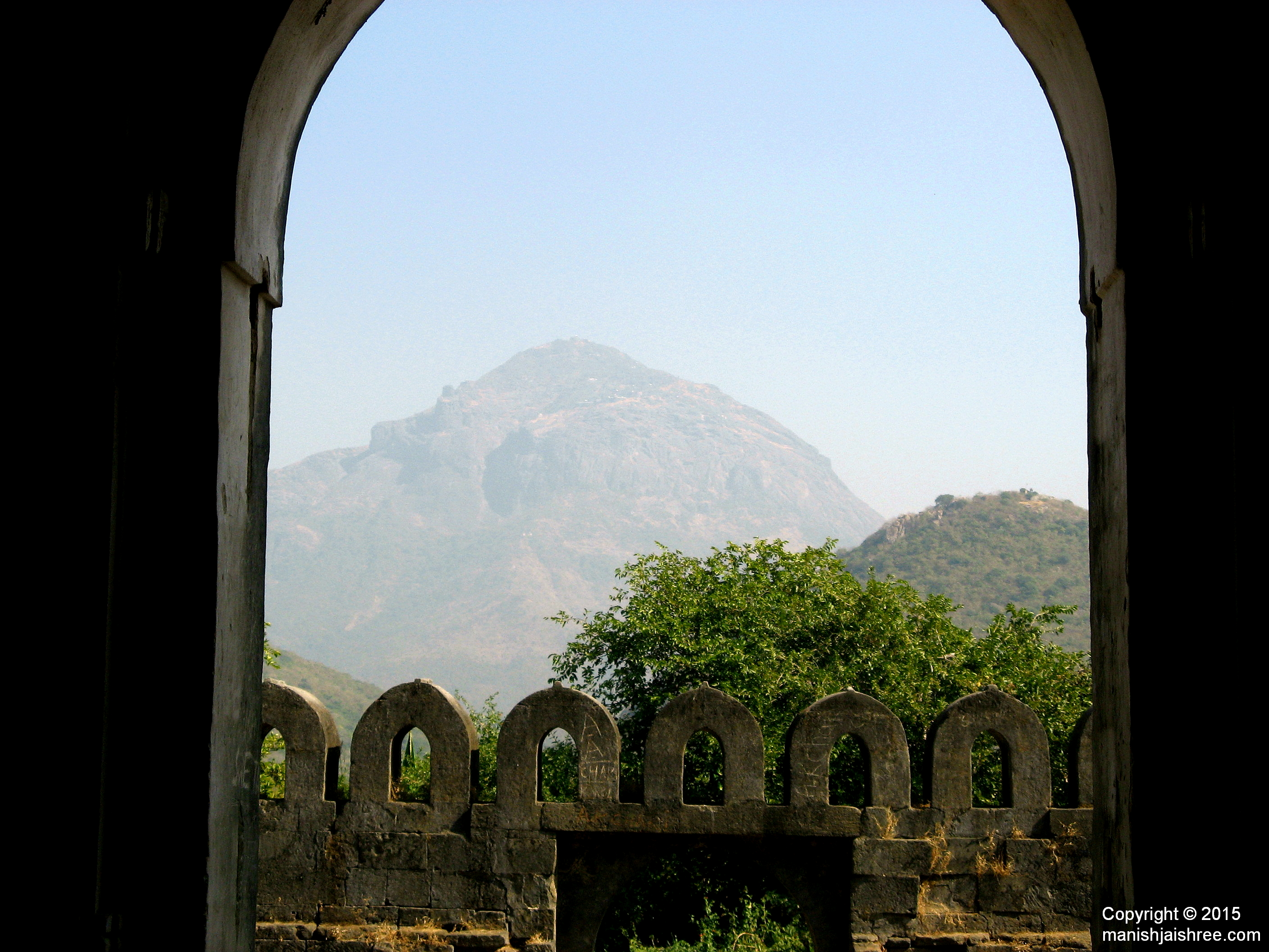 Mount Girnar as seen from Uparkot Fort, Junagarh