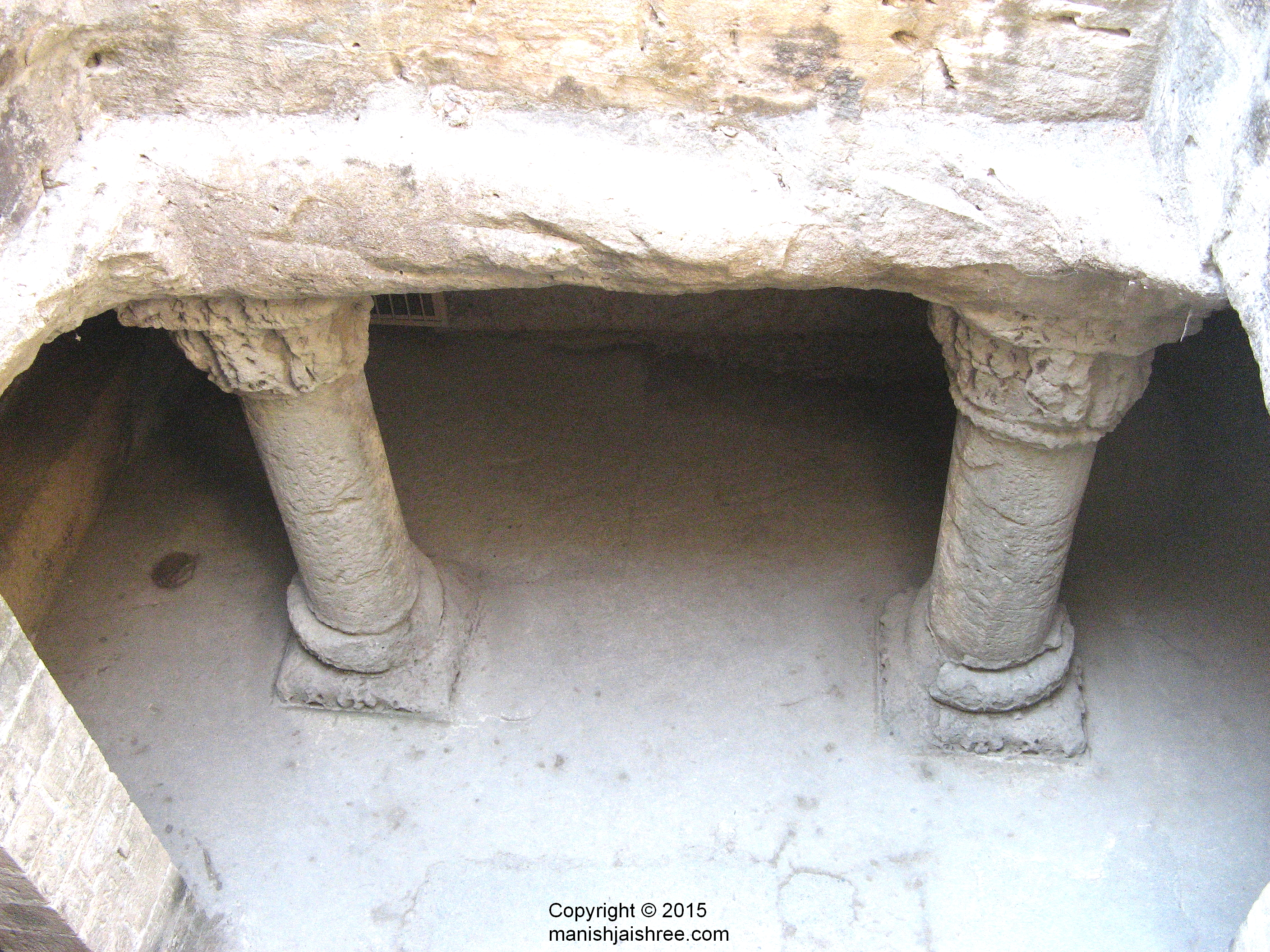 Well-lit and ventilated lowest floor, Buddhist caves, Uparkot, Junagarh