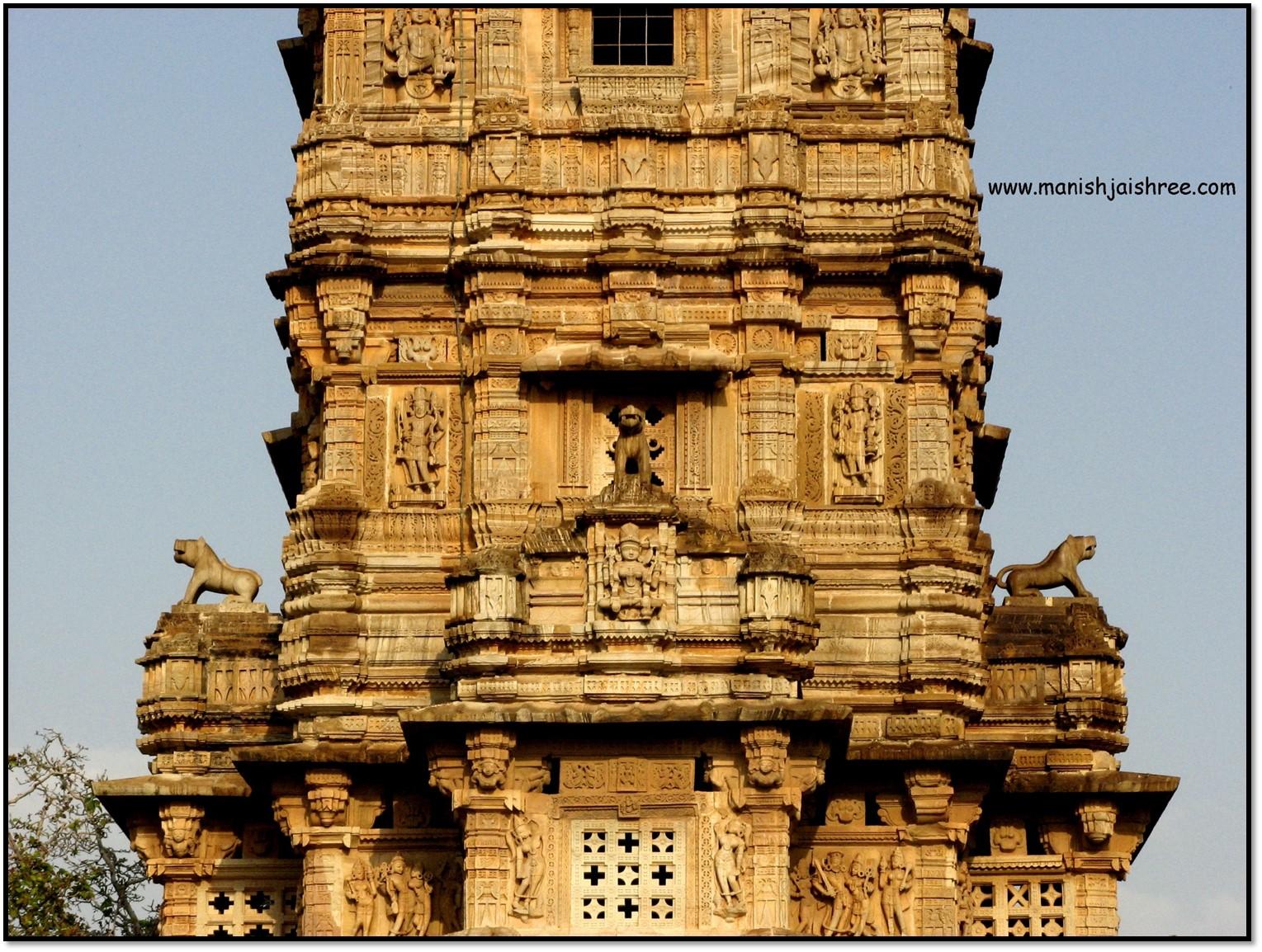 Close-up of Vijay Stambh