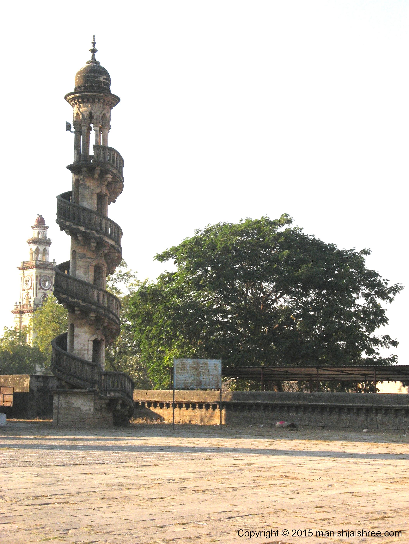 Minarets with Spiralling staircase , Junagarh