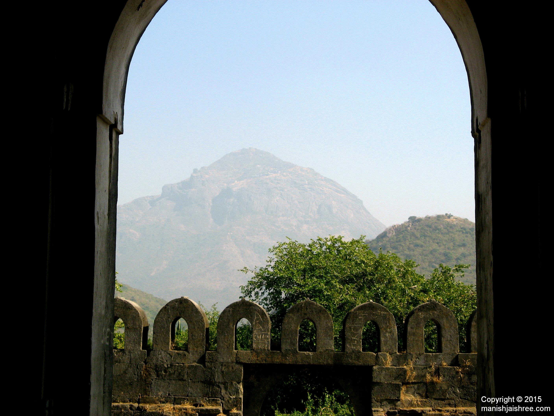 Mount Girnar as seen from Uparkot Fort, Junagarh