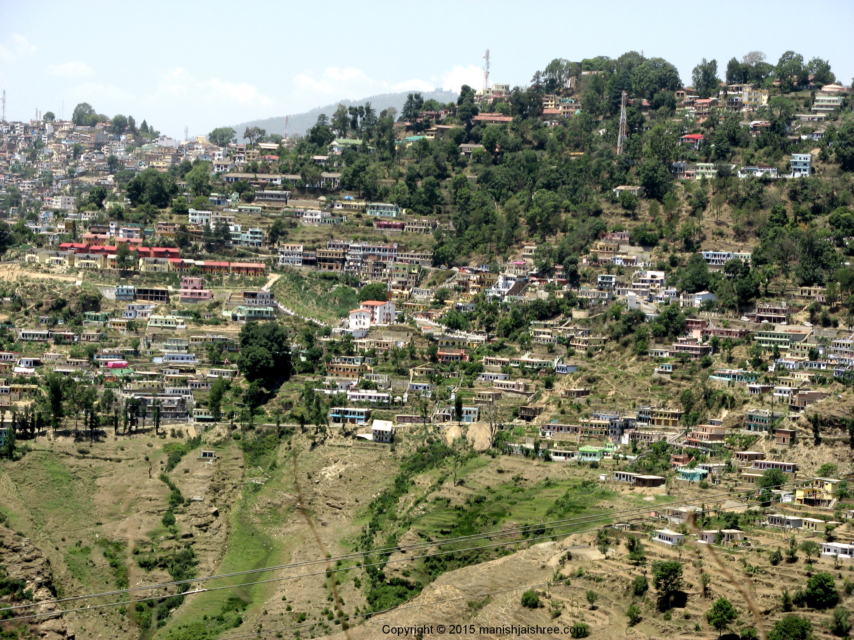 Houses everywhere, yes its Almora